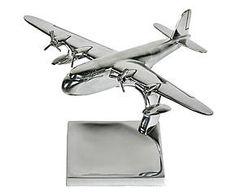 Avion décoratif aluminium, argenté - 50*39