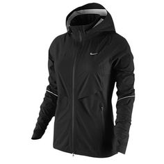 Nike Womens Rain Runner Running Jacket, Black, X-Small