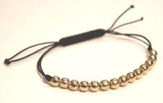 how to bead a bracelet | metal bead bracelet (made similar to spacer bead sliding knot bracelet ...