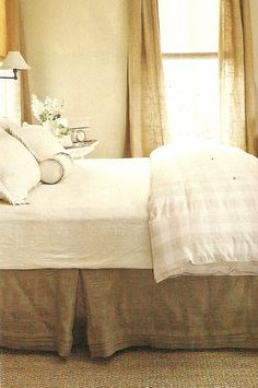 Country Home Feature. 1b. Stay with the neutral palette. Love the Cottage style bedroom with the neutral color palette.