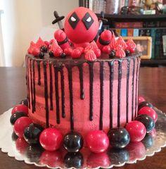 Naked Drip Deadpool Cake