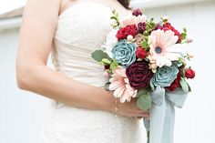 In this detailed craft tutorial, we show you how to make the most gorgeous wedding bouquet and boutonnieres out of felt! Free printable flower patterns and Cricut cut files available for purchase. Perfect for your alternative wedding! Felt Flower Bouquet, Felt Flowers, Flower Bouquets, Wedding Flower Alternatives, Wedding Bouquets, Wedding Flowers, May Weddings, Dream Wedding, Wedding Stuff