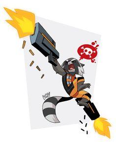 Rocket Raccoon by TWULF on DeviantArt