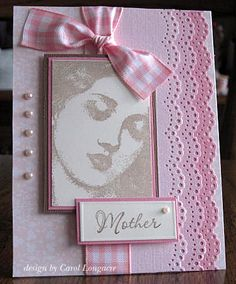 I like the layout of this- with another sea side type stamped image Pink Cards, Baby Cards, Pinterest Crafts, Worlds Best Dad, Old Quilts, Milestone Birthdays, Mothers Day Cards, Scrapbook Cards, Scrapbooking