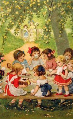 Tea Party, Franziska Schenkel, German 20th c.