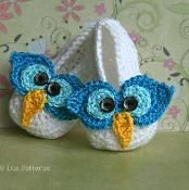 Baby owl boots, baby booties (106) - via @Craftsy