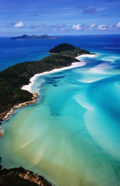 """Aerial of Whitsunday Island.""  by Lonely Planet Images"