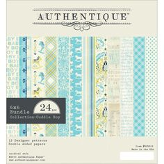 """Authentique Paper Cuddle Boy Double-Sided Cardstock Pad 6""""x6"""""""