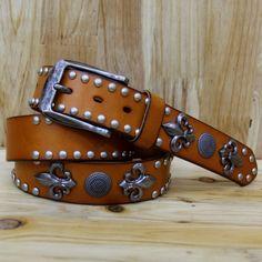 New style rivet  Leather men  belt / skull,Apparel Accessories