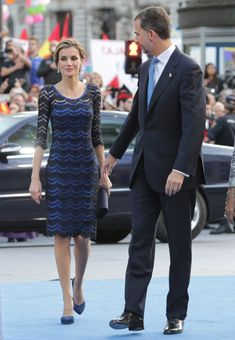"King Felipe of Spain and Queen Letizia of Spain attended the ""Principe de Asturias Awards 2014"" ceremony at the Campoamor Theater in Oviedo, Spain. 24 October 2014"