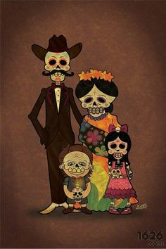 Mexican, Mexico, family, Day of the Dead,  father, mother, son, daughter