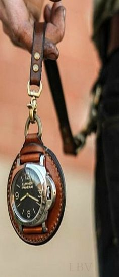 I like this idea of turning a wrist watch into a pocket watch.