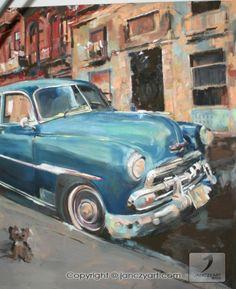 #malarstwo #painting by #Karolina_Janczy - #image of a series of the travel - under the title #Cuba #landscape #oil_painting on #canvas #signed - size - 100 cm. x 150 cm. #sztuka #art - Copyright - Open Gallery - JanczyArt Group © www.janczyart.com
