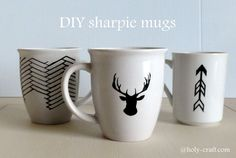 DIY sharpie mugs - Rachel Teodoro a fashionable example of a style pinsight from a chicc minded pinner Sharpie Mug Art, Sharpie Crafts, Sharpie Mug Designs, Diy Becher, Home Crafts, Diy Crafts, Diy Craft Projects, Craft Ideas, Diy Ideas