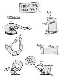 First time doing yoga.