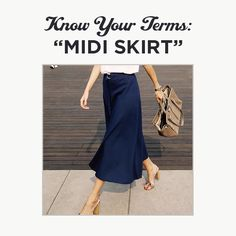 Get to know the trendy and flattering Midi Skirt.