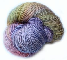 Cloudy Rainbow • Firm twist for plump, well defined stitches • Full of spring and bounce • Incredibly soft and squishy  • 80% Superwash Merino, 20% Nylon • 2 Ply Fingering/Sock • 400 yds/365 m • 3.5 oz/100 gr • Recommended Needle: US 1-3 (2.25-3.25 mm) • Recommended Hook: US B1-E4 (2.25-3.5 mm)