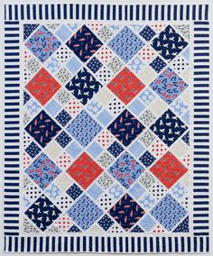 Gimme Diamonds (It's A Shore Thing) | Dear Stella Design. Awesome summer time quilt!