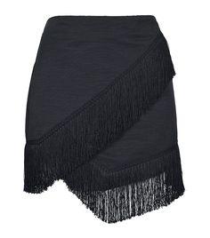 Fringe Trim Wrap Mini Skirt by Topshop // #POTD #Shopping