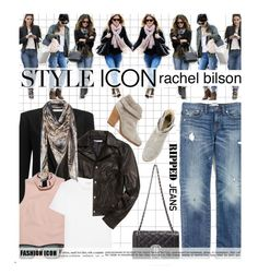 """""""Who Is Your Style Icon?"""" by edenslove ❤ liked on Polyvore featuring Rebecca Minkoff, Yves Saint Laurent, Madewell, Moschino, rag & bone, Ray-Ban and rachelbilson"""