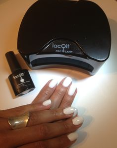 LacQit It's a White out .Chic trending style all in one easy step with LacQit one step gel polish! Www.thenailscene.com