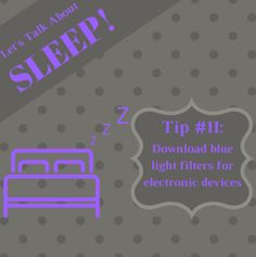 Blue light blocks the production of melatonin - the sleep hormone. Blue light makes your body think it's daytime so you should be awake. F.Lux is a software that is free to download that gradually dims the blue light on your computer. #SleepWellSunday