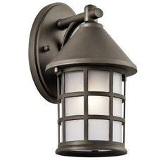 """Kichler 49618 - $65 - 60 watts, 10.75"""" h x 6"""" w, Aluminum, Olde Bronze"""