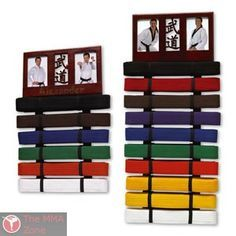 Karate Belt Display...great idea for my nephew for xmas