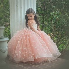Amelia gown by Anna Triant Couture Couture flower girl and special occasion dresses Little Girl Gowns, Gowns For Girls, Wedding Dresses For Girls, Little Girl Dresses, Girls Dresses, Flower Girl Dresses, Baby Dress Design, Party Frocks, Princess Ball Gowns