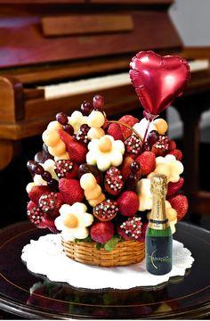 Fruits bouquet>>Valentine's day