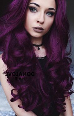 Purple Hair Black Girl, Dark Purple Hair Color, Purple Hair Highlights, Hair Color Shades, Cool Hair Color, Hair Colour, Purple Style, Purple Lilac, Hair Color Ideas