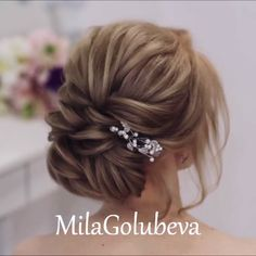 Glam Updo Styles For Wedding! Alpi , , Glam Updo Styles For Wedding! Do you wanna see more fab hairstyle ideas and tips for your wedding? Then, just visit our web site babe! Up Hairstyles, Braided Hairstyles, Wedding Hairstyles, Hairstyle Ideas, Graduation Hairstyles, Wedding Updo, Wedding Hair And Makeup, Bridal Hair, Natural Hair Styles
