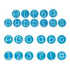 Sizzix Sizzlits Alphabet Set 35 Dies - Alpha Bubbles $149.99