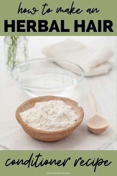 Moisturize dry hair and boost hair growth with this deep conditioning hair mask recipe for an herbal hair conditioner. This herbal hair mask DIY lasts longer than a traditional hair mask and works better than your daily conditioner. Make an herbal hair conditioner recipe to speed hair growth, improve manageability, boost shine and soften hair. Created with natural botanicals known for their hair care benefits, this herbal conditioning hair treatment brings dry hair back to life in 30-minutes. Conditioning Hair Mask, Hair Conditioner, Best Hair Care Products, Natural Products, Hair Care Recipes, Soften Hair, Diy Hair Care, Natural Hair Care, Natural Beauty
