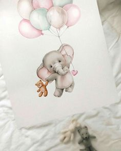 Este posibil ca imaginea să conţină: 1 persoană Baby Animal Drawings, Cartoon Drawings, Cute Drawings, Cute Illustration, Watercolor Illustration, Watercolor Art, Baby Motiv, Baby Painting, Cute Paintings