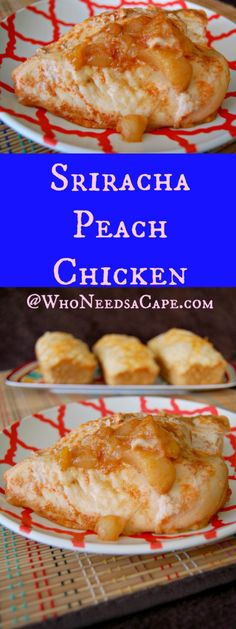 Sriracha Peach Chicken a flavor loaded slow cooker dish that's a little sweet & spicy!