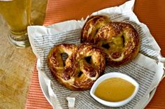 Truffled Soft Pretzels with Smokey Garlic Aioli!!  What??!  Domestic Fits.