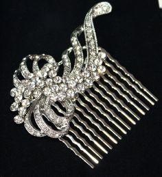 Bridal Hair comb  Vintage Style Rhinestone Wedding by WearableArtz, $40.00