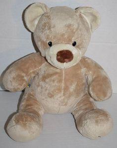 "Build A Bear Teddy Bear Asthma Friendly tan brown nose plush 14"" stuffed animal #BuildABear #AllOccasion"