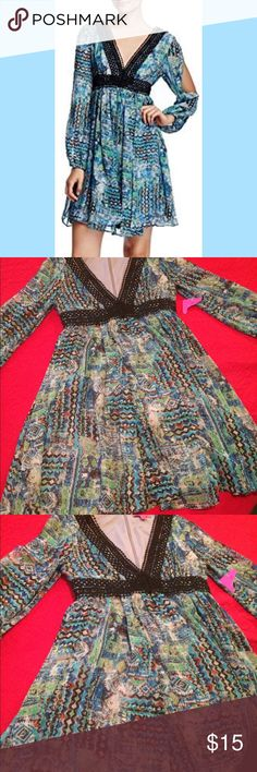 Betsey Johnson women dress -new  - good condition  - size 4  - multi colors - feel free to ask any questions :) -- follow me on twitter for good deals @luna1819991 Betsey Johnson Dresses Mini