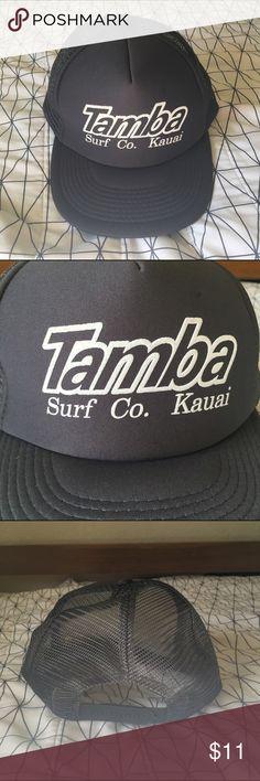 1ad2770b25f TAMBA SURF CO. KAUAI TRUCKER HAT Trucker hat. Good for the beach. Snap