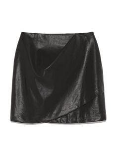 2016AW 秋冬 トレンド 新作  フレイアイディー(FRAY I.D)のワンタックレザーミニスカート ミニスカート