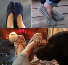 Knitted Slippers Pattern Free