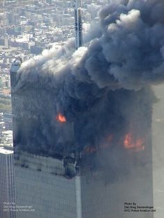 9/11 World Trade Center Collapse, Trade Centre, 911 Never Forget, Lest We Forget, North Tower, Aerial Images, 11. September, New York, Illuminati