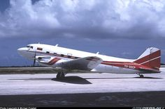 Douglas Aero Modification AMI DC-3-65TP (YV-32CP, c/n 13143) at Curacao Int. Airport on Feb 20, 1991.
