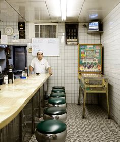 A greasy spoon with a pinball machine in the corner...lots of places like this around back in the day.