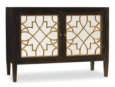 Hooker Furniture Sanctuary Two-Door Ebony Mirrored Console 3005-85006