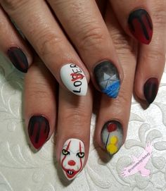 Hand-painted it nails @customsbychristy