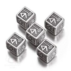 Exotic Dice Sets: Metal Dwarven d6 Dice Set (5 six-sided dice)