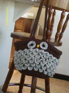 Handmade+Crochet+Bags+Patterns | FREE: Handmade Crocheted Owl Purse Pattern